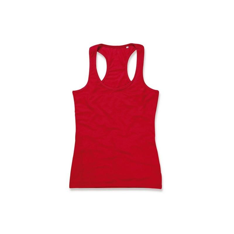 b9464362f056 Μπλούζα γυναικεία με τιράντα B ST8540 Κόκκινο